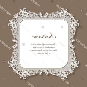 Wedding Lace Vector Borders Square: Vintage Square Frame Lace Border Ornament