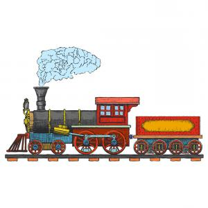 Vintage Steam Train Vector: Vintage Steam Locomotive Logo Design Vector