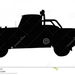 Chevy 4x4 Logo Vector: Vintage X Pick Up Truck Silhouette