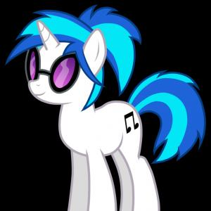 Vinyl MLP Vector: Vinyl Scratch With A Ponytail