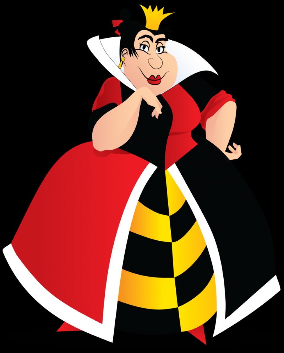 Alice Queen Of Hearts Vector: Villain Collab Queen Of Hearts