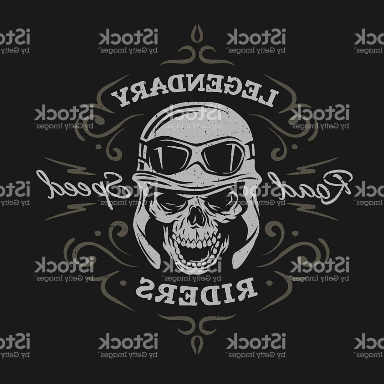 Gang Vector Graphics: Vintage Biker Skull T Shirt Prints Emblems Gm