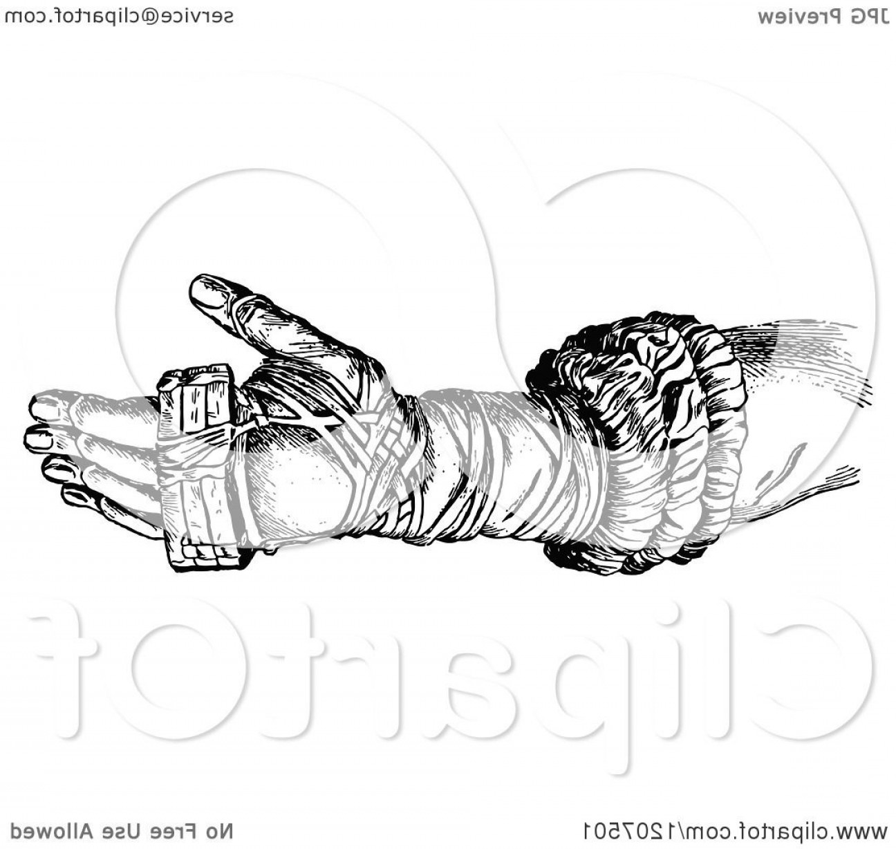 White Glove Service Vector: Vintage Black And White Ancient Boxing Glove