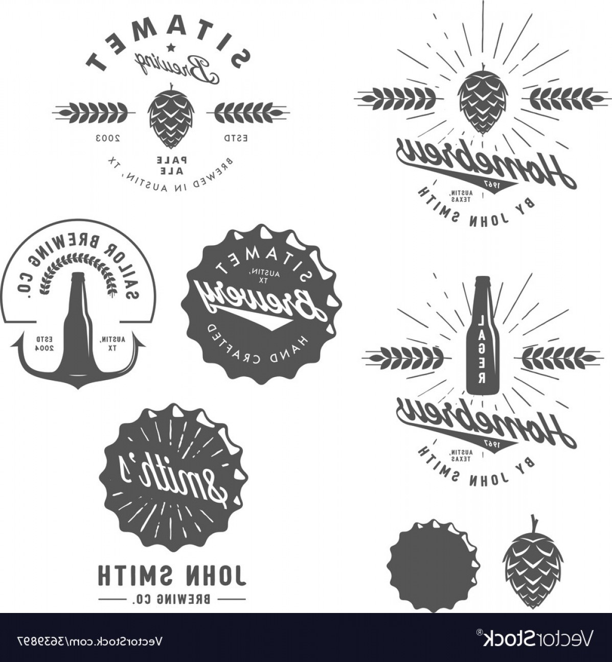 Marathon Oil Logo Vector: Vintage Brewery Logos Labels And Design Elements Vector