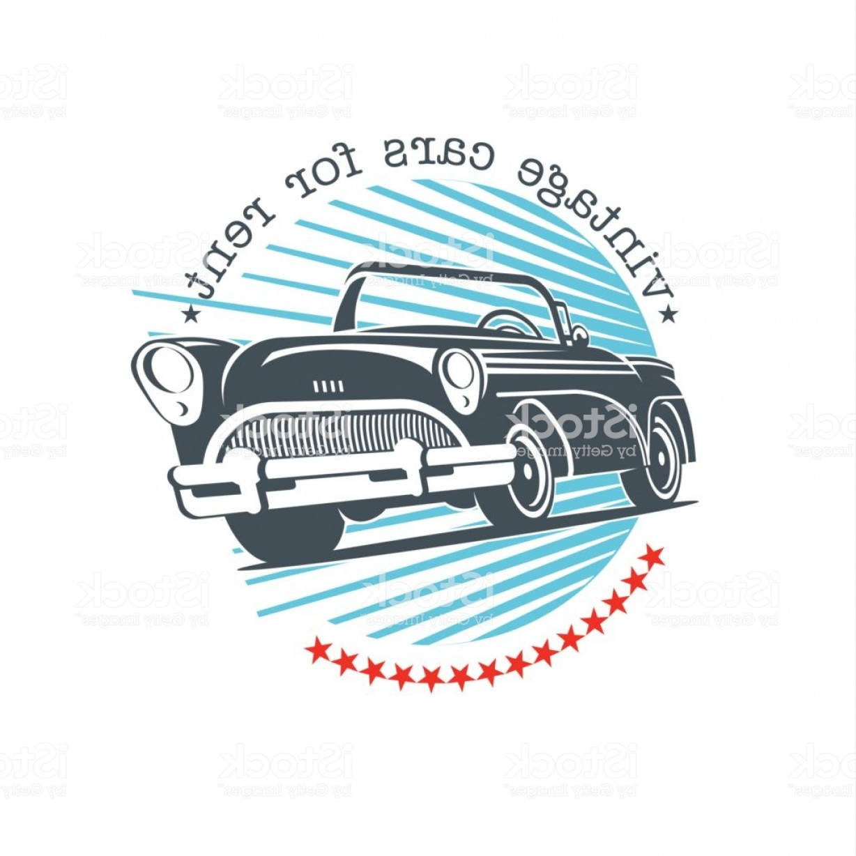Ford Falcon Logo Vector: Vintage Car Vector Sign Icon Retro Cars For Rent Gm