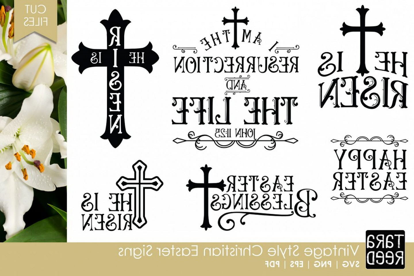 Religious Easter Vector Files: Vintage Christian Easter Signs Easter Svg And Cut