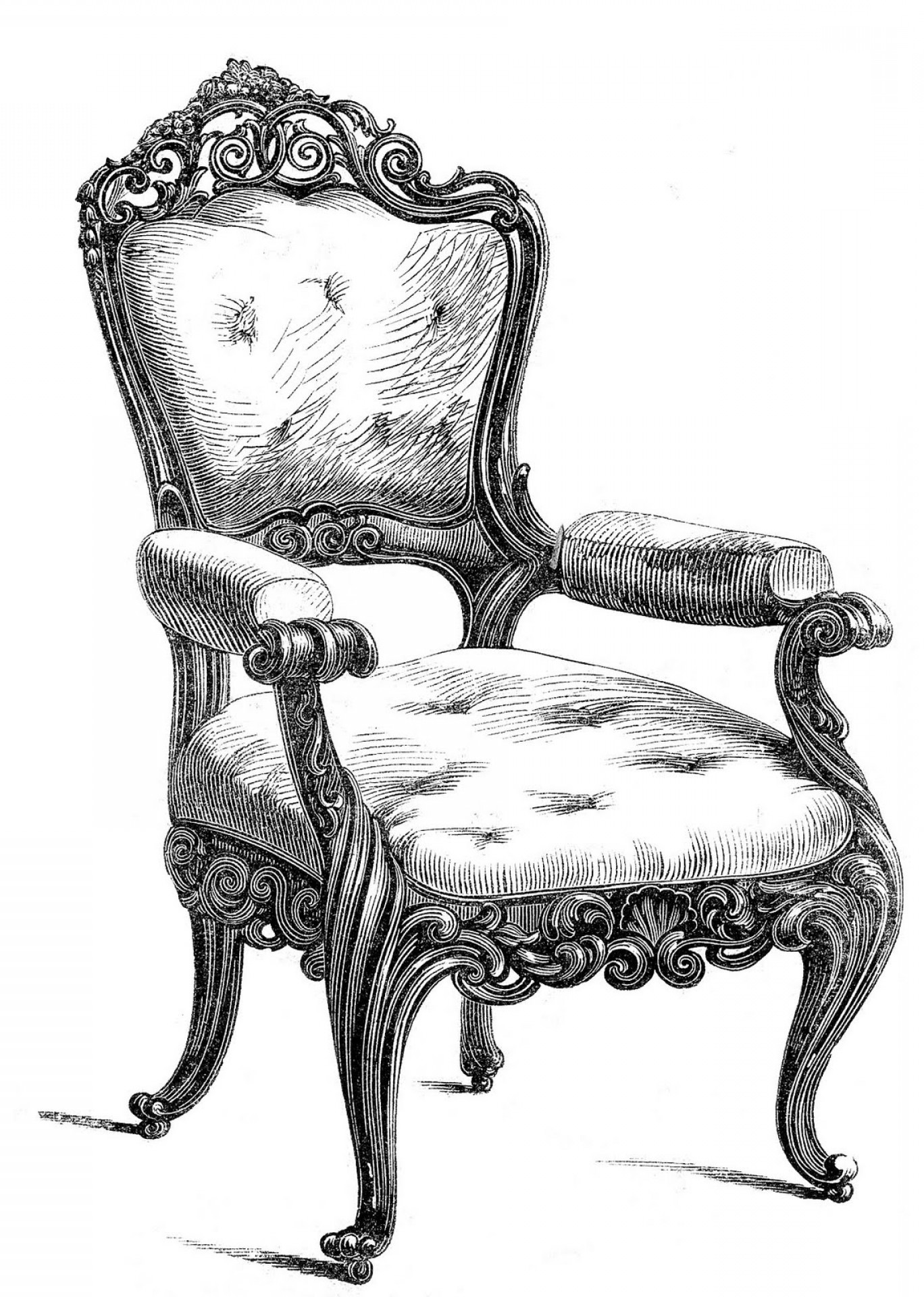 Vector Vintage Chair: Vintage Clip Art Fancy Chairs