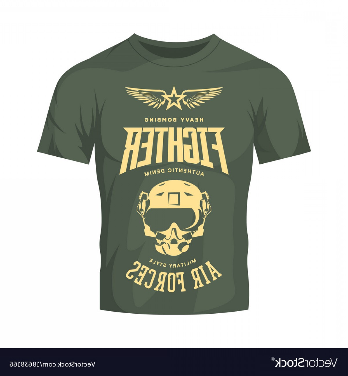 Military T-Shirt Designs Vectors: Vintage Fighter Pilot Helmet Logo Isolated Vector