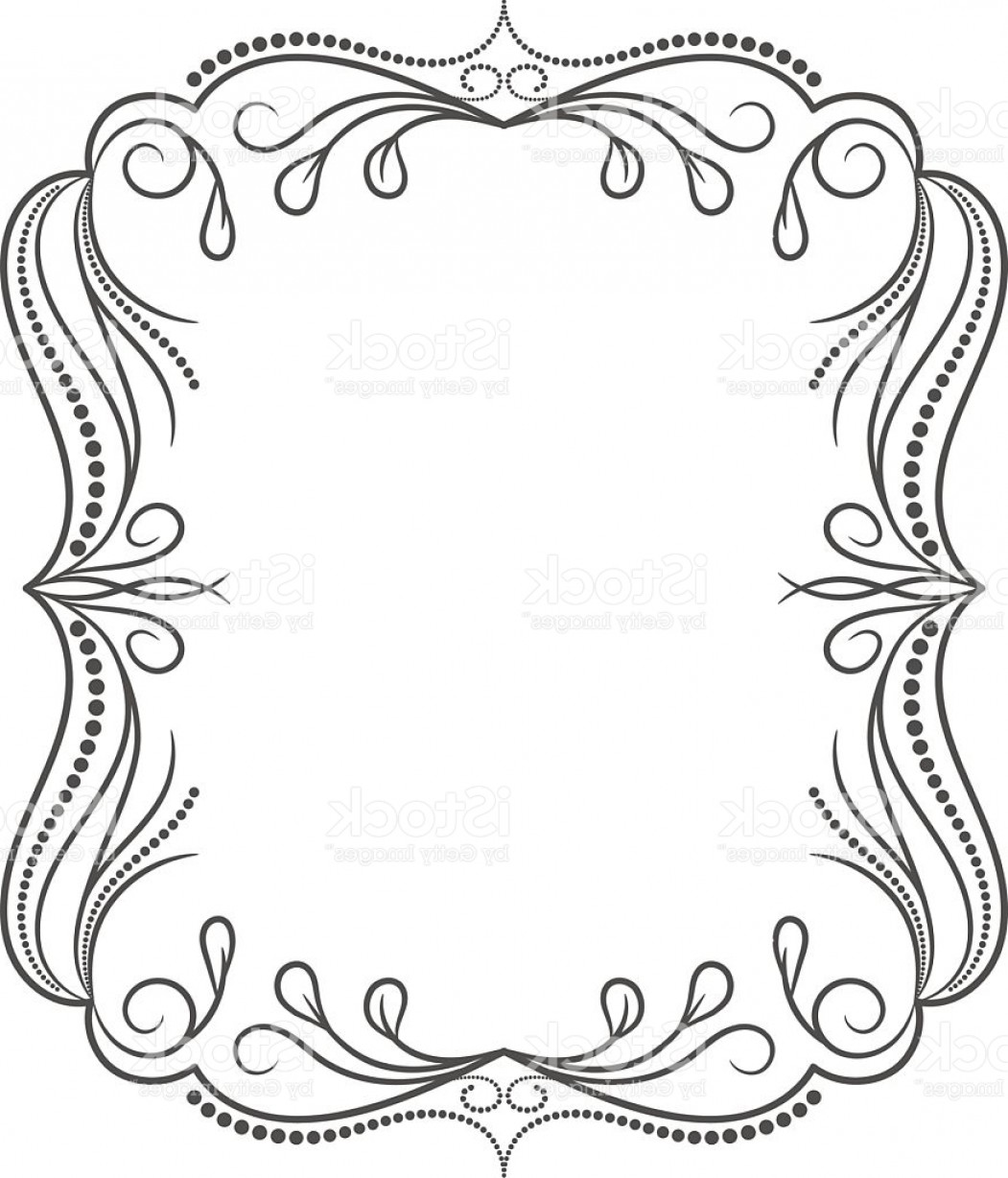 Vector Ornate Shaped Frame: Vintage Frame Elegant Luxury Vintage Calligraphy Frame Gm