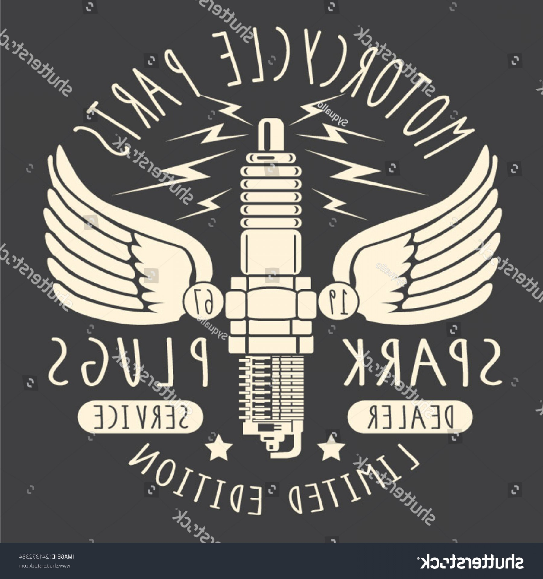 Motor Vector Graphics: Vintage Motor Service Typography Tshirt Graphics