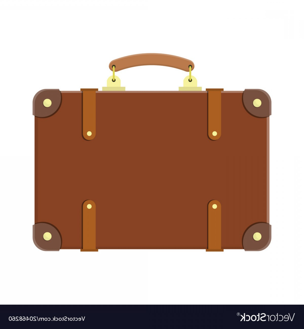 Vintage Luggage Vector: Vintage Old Travel Suitcase Vector
