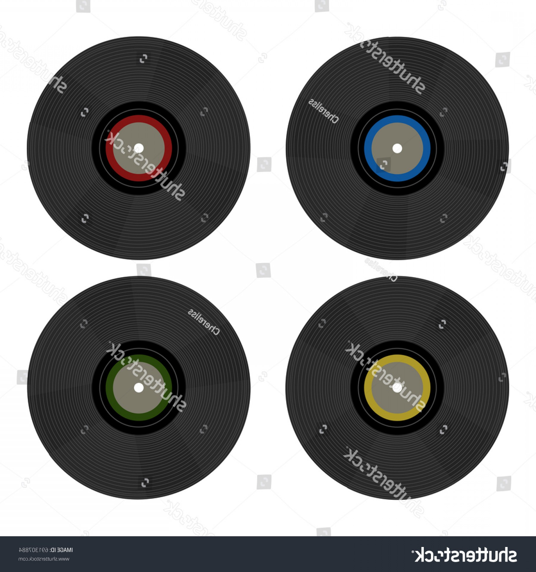 Vinyl Vector Tools: Vintage Retro S Vector Vinyl Records