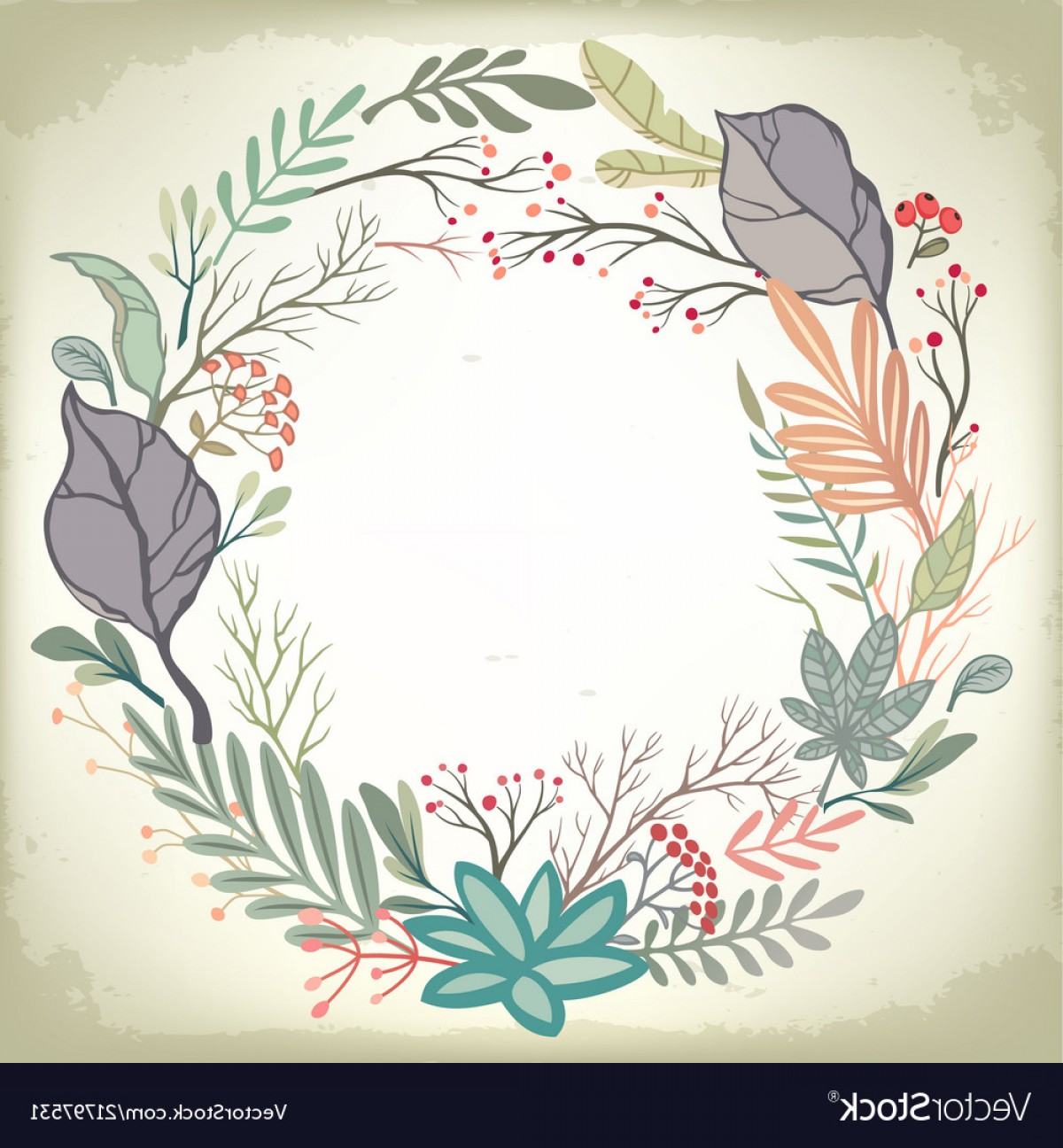 Romantic Vintage Flowers Vector: Vintage Romantic Background With Floral Frame Vector