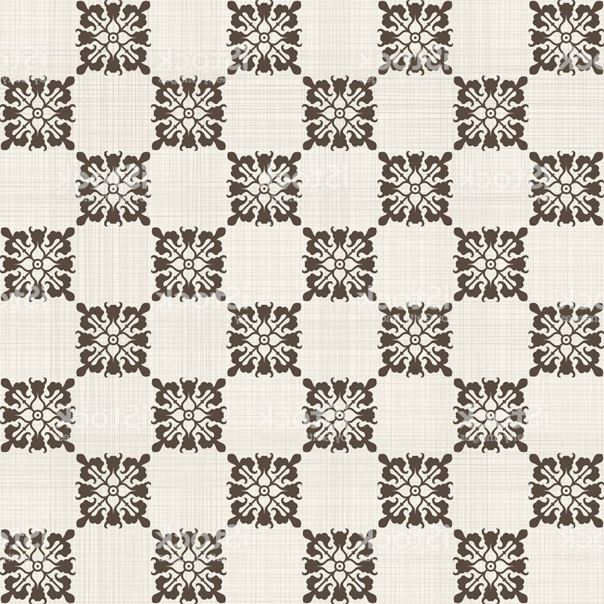 Victorian Motif Vector: Vintage Seamless Pattern With Victorian Motif Gm