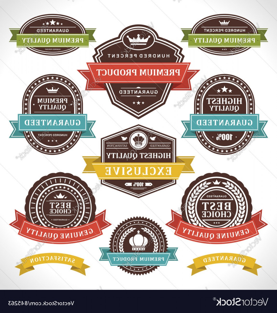 Vector Lables: Vintage Stickers And Labels Vector