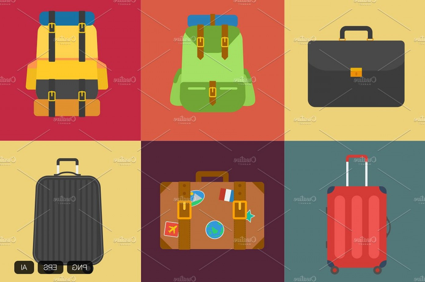 Vintage Luggage Vector: Vintage Suitcase Vector Icon
