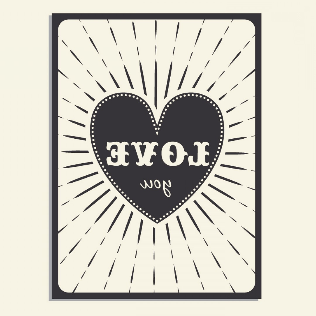 Vintage Vectors For Photoshop: Vintage Vector Poster With Love Typography