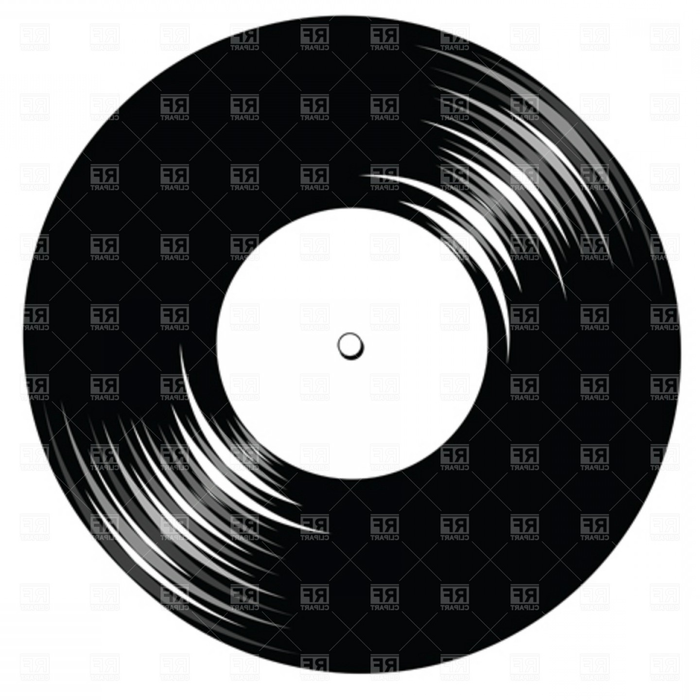 Vinyl Vector Tools: Vintage Vinyl Record With Space For Text Vector Clipart