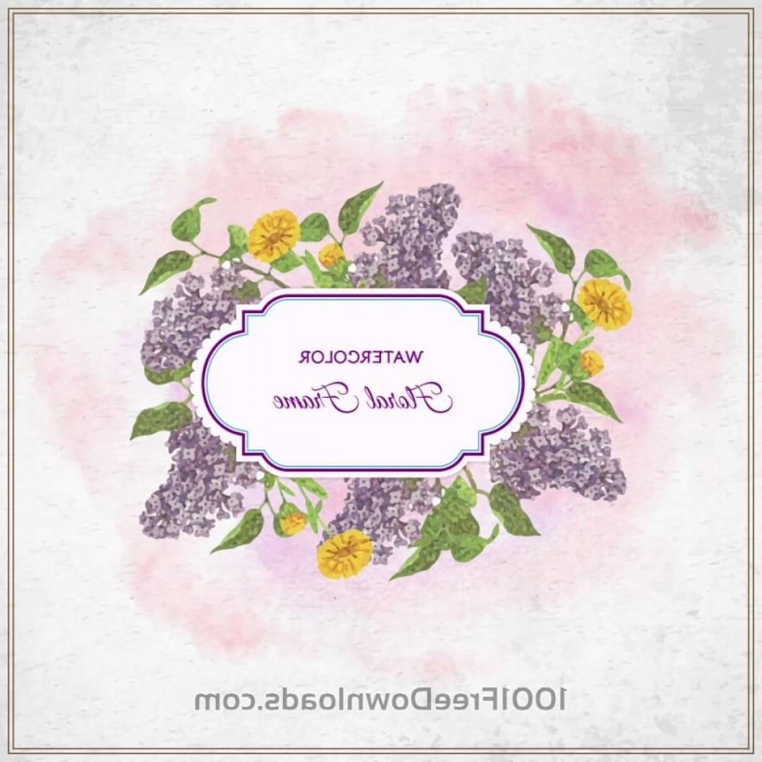Watercolor Vector Free Designs: Vintage Watercolor Floral Frame With Typography