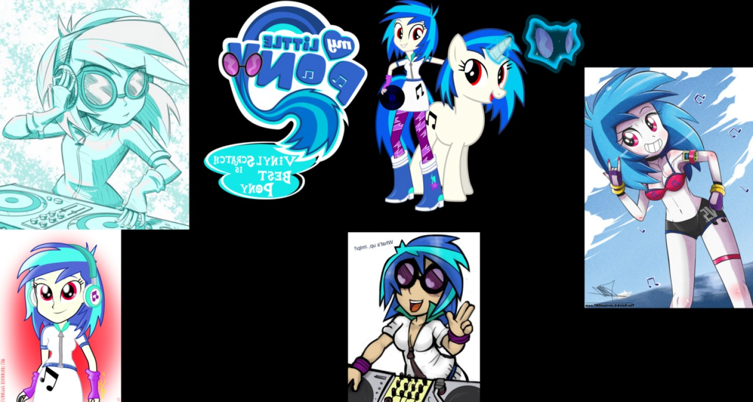 Vinyl MLP Vector: Vinyl Scratch Is Best Pony