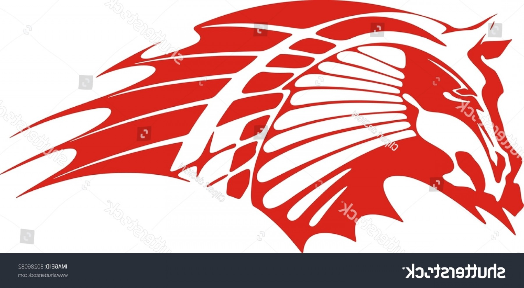 Vector Fishing Decals: Vinylready Red Horse Vector Illustration Great
