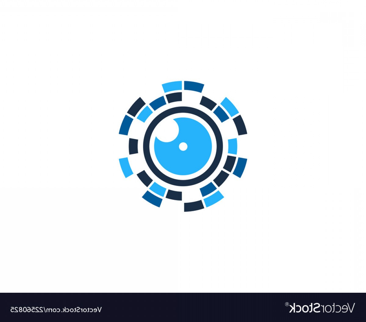 Hires Camera Lens Vector: Vision Camera Logo Icon Design Vector