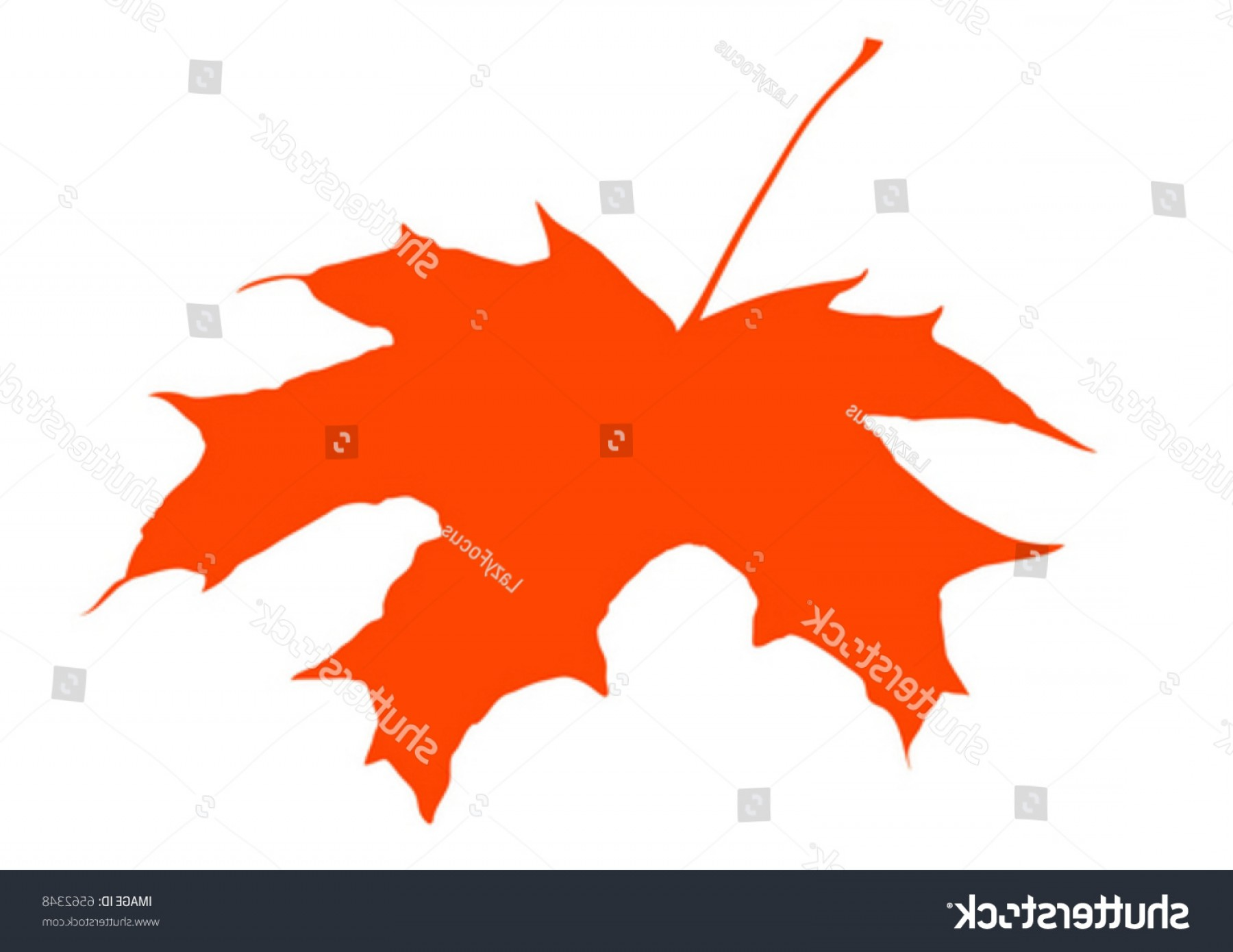 Red Maple Leaf Vector: Vivid Red Maple Leaf Vector Graphics