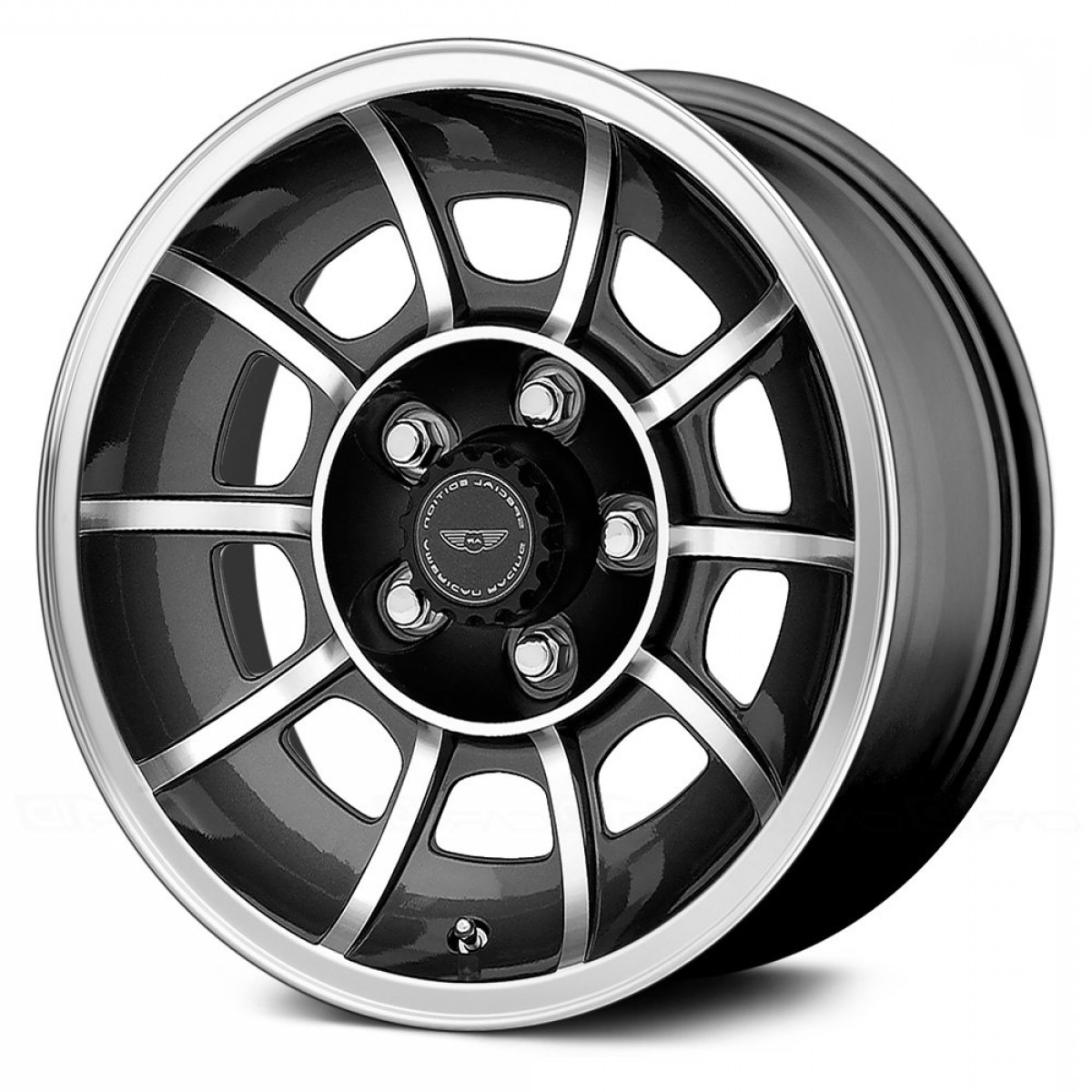 American Racing Vector Rims: Vn Vector Pc Black Machined Face