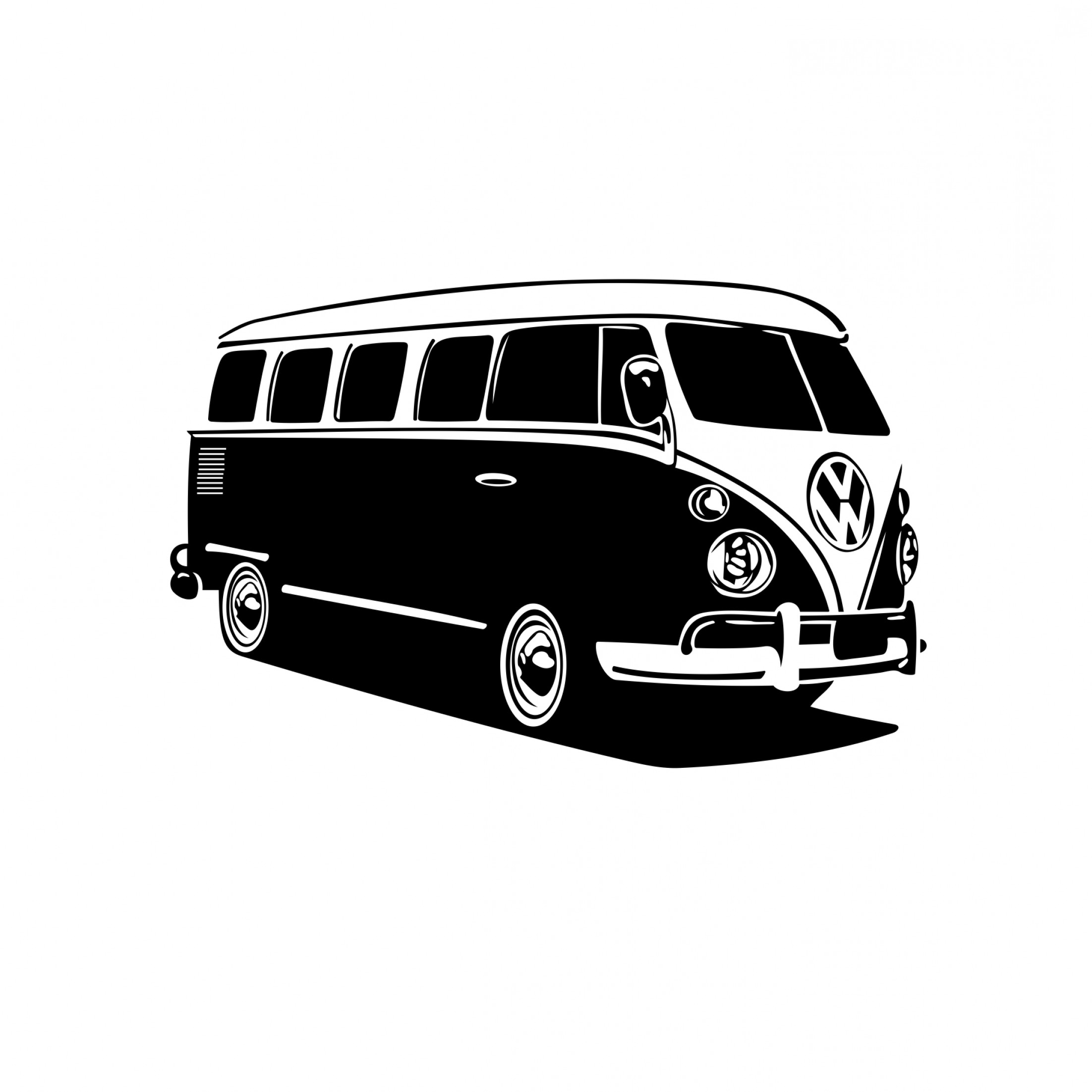 VW Vector Graphic: Volkswagen Bus Car Design Svg Dxf Eps Png Cdr Ai Pdf Vector Art Clipart Instant Download Digital Cut Files