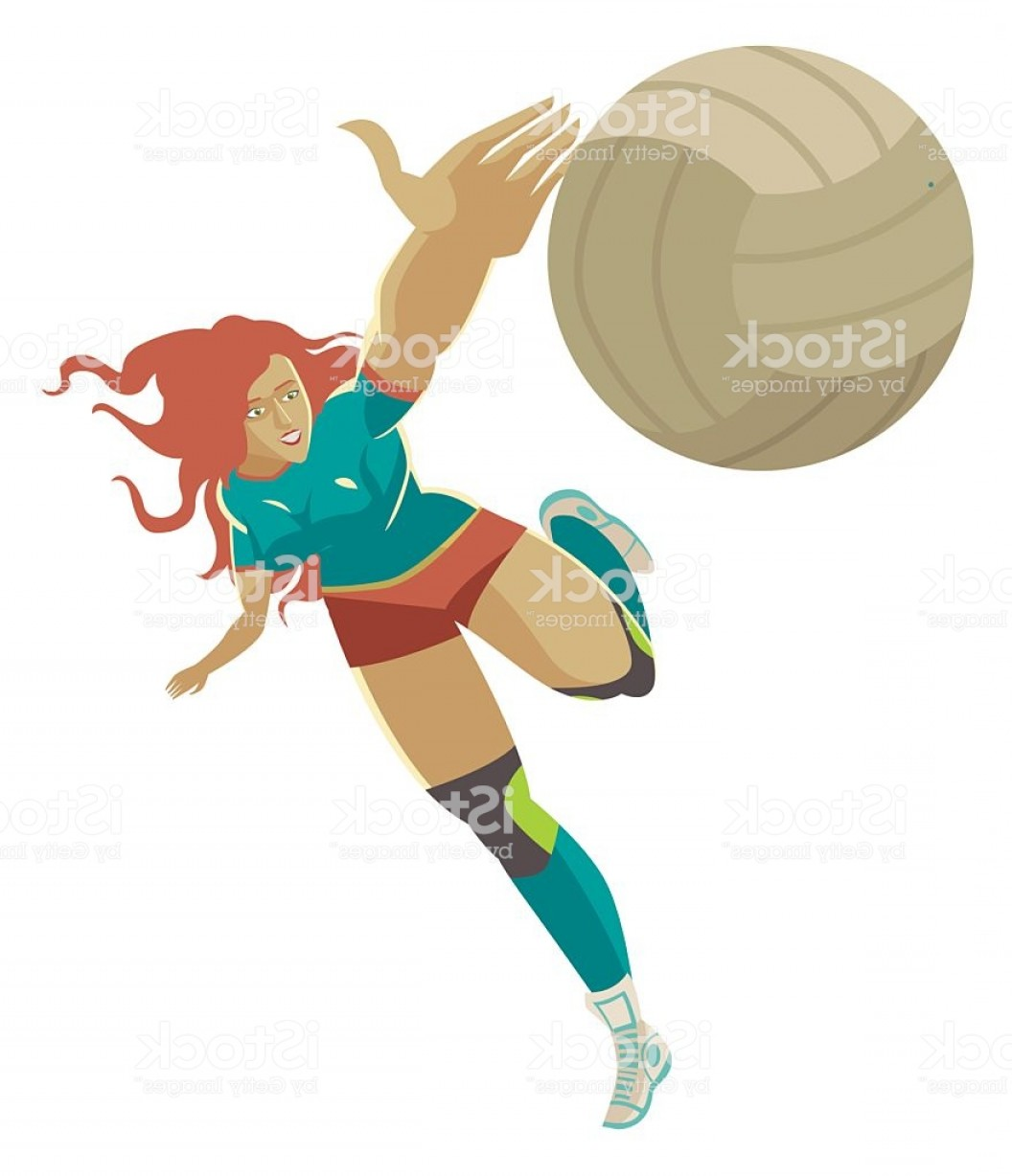 Volleyball Vector Dog Lady: Volleyball Girl Player Blocking The Ball Gm