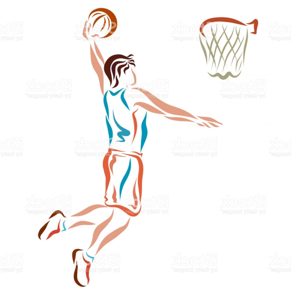 Volleyball Player Vector: Volleyball Player Throws The Ball Into The Basket Gm