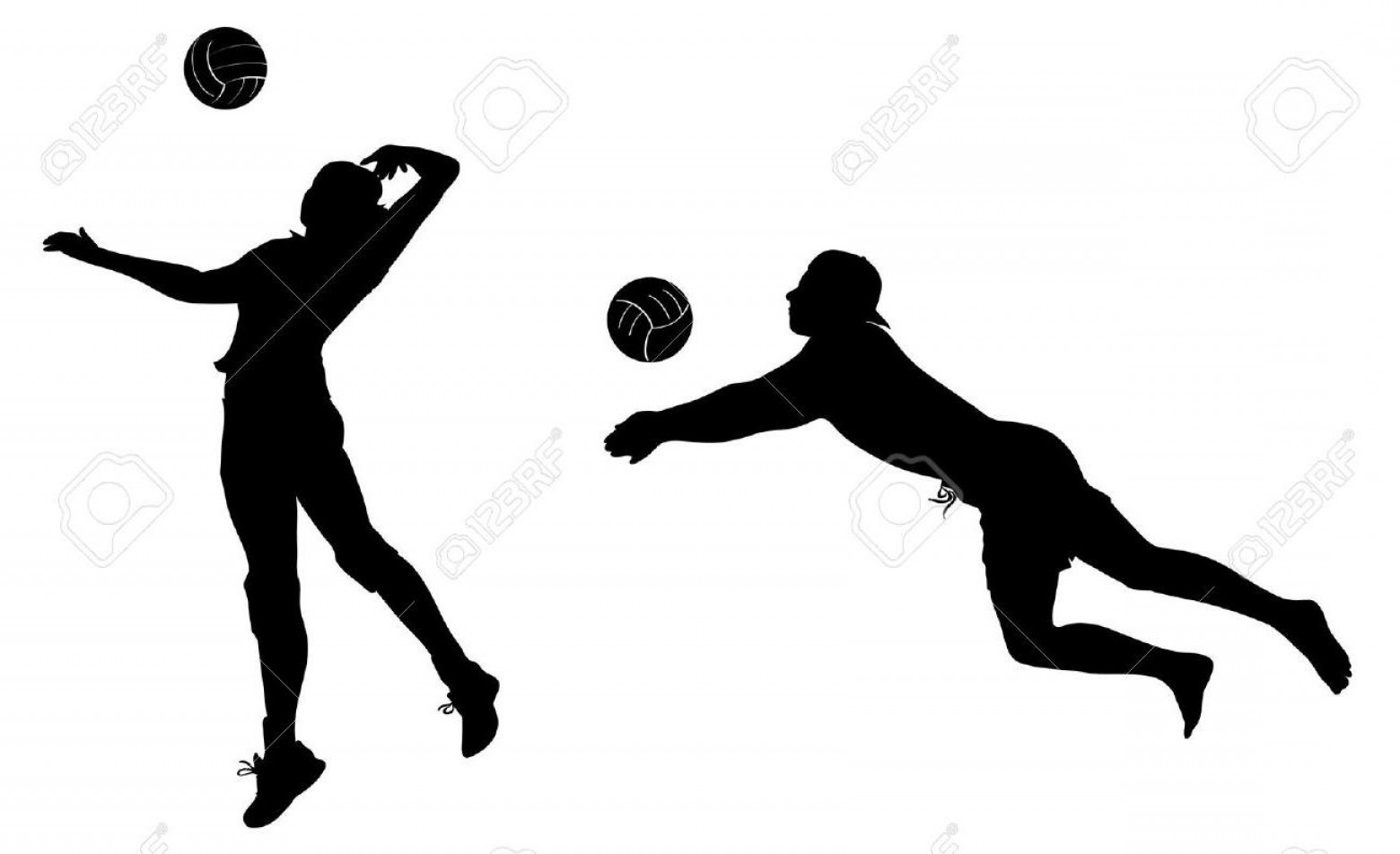 Volleyball Player Vector: Volleyball Silhouette Free Download Clip Art Fine Player Clipart