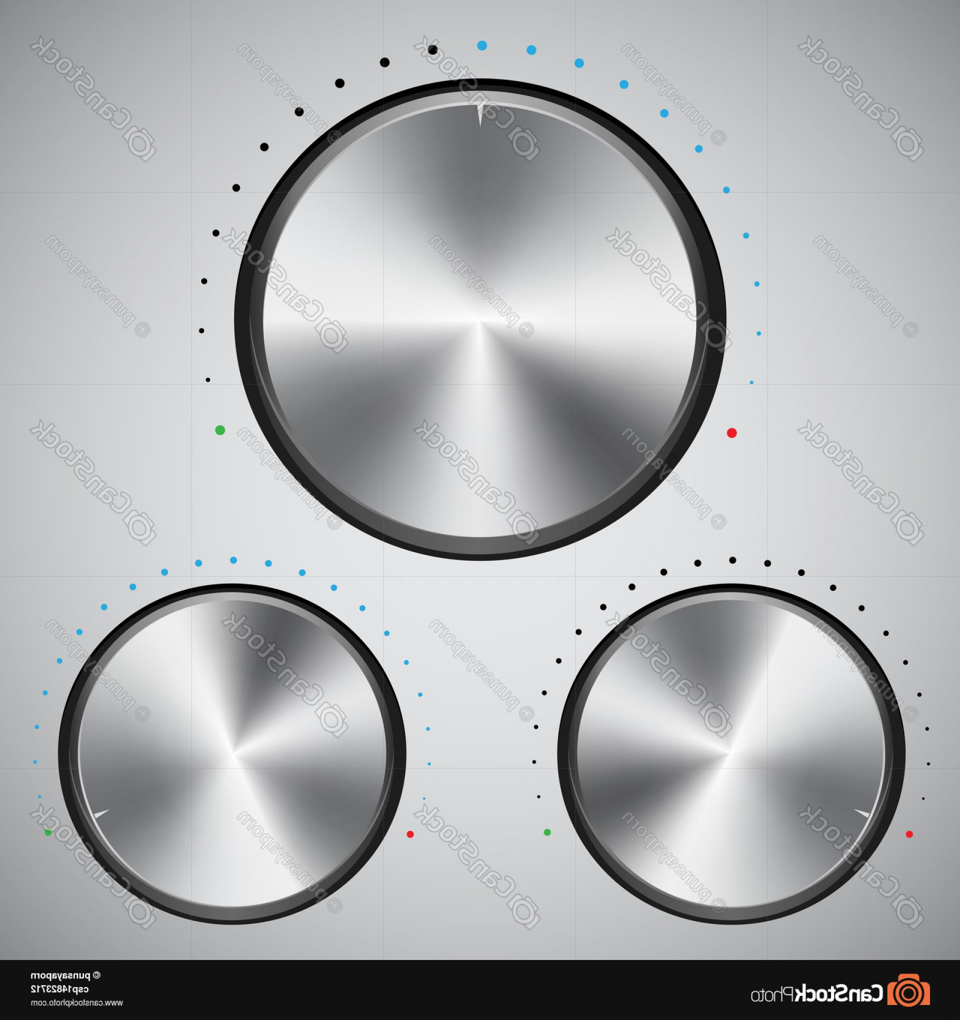 Volume Button Vector: Volume Button With Metal Texture