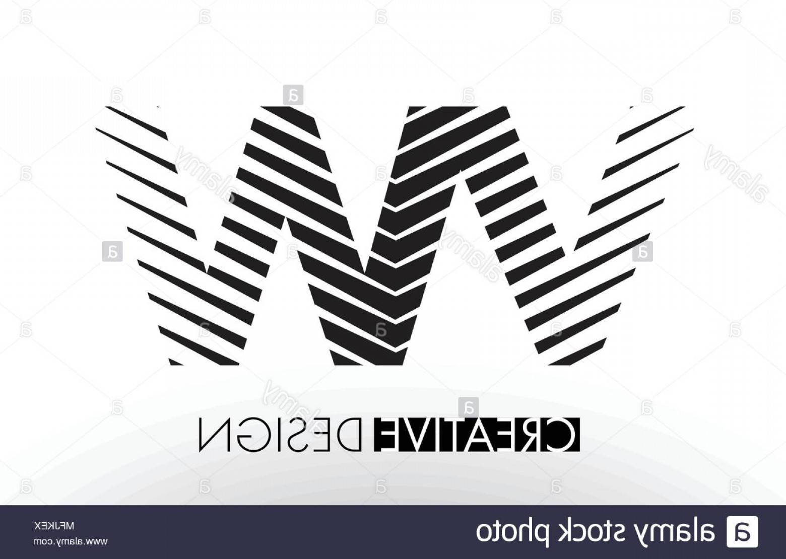 VW Vector Graphic: Vw V W Lines Letter Design With Creative Elegant Zebra Vector Illustration Image