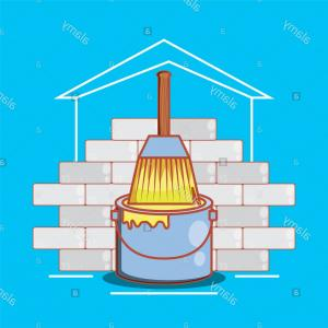 Wall Art Vector Graphics For The Home: Wall With Home Repair Icons Vector Illustration Design Image