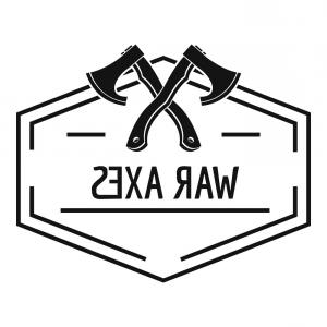War Axe Vector: War Axe Logo Simple Black Style Vector
