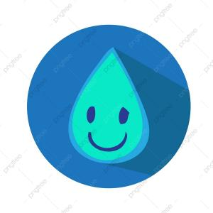 Water Drop Icon Vector: Water Drop Icon Flat Raindrop Symbol Isola Vector