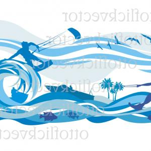 Vector Clip Art Of Water: Water Sport Vector Clipart Digital Sport