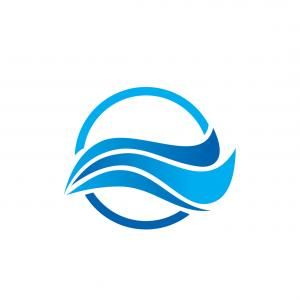 Vector Water Abstract: Water Wave Abstract Ocean Logo Vector
