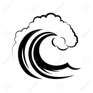Water Waves Clip Art Vector: Water Wave Logo Template Vector Illustration Design