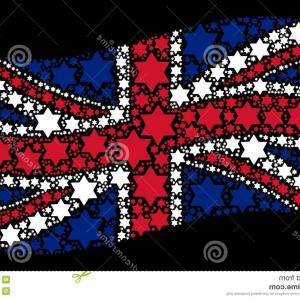 Pointed Cross Vector: Waving United Kingdom Flag Collage Six Pointed Star Icons Waving Great Britain Official Flag Black Background Vector Six Image