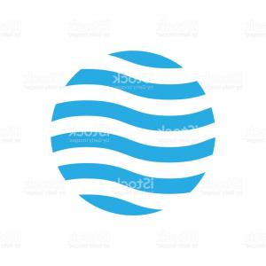 Wavy Circle Vector: Abstract Vector Background Round Futuristic Wavy