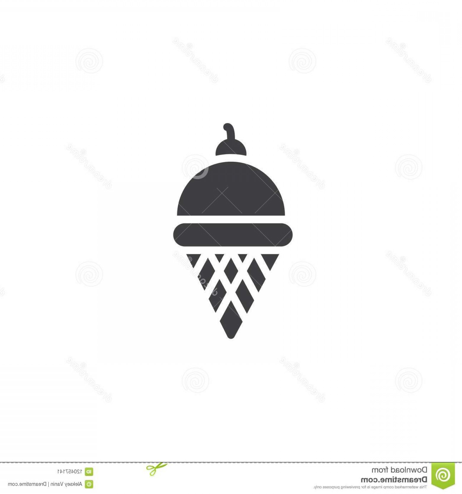 Snow Cone Outline Vector: Wafer Ice Cream Cone Vector Icon Wafer Ice Cream Cone Vector Icon Filled Flat Sign Mobile Concept Web Design Berry Ice Image