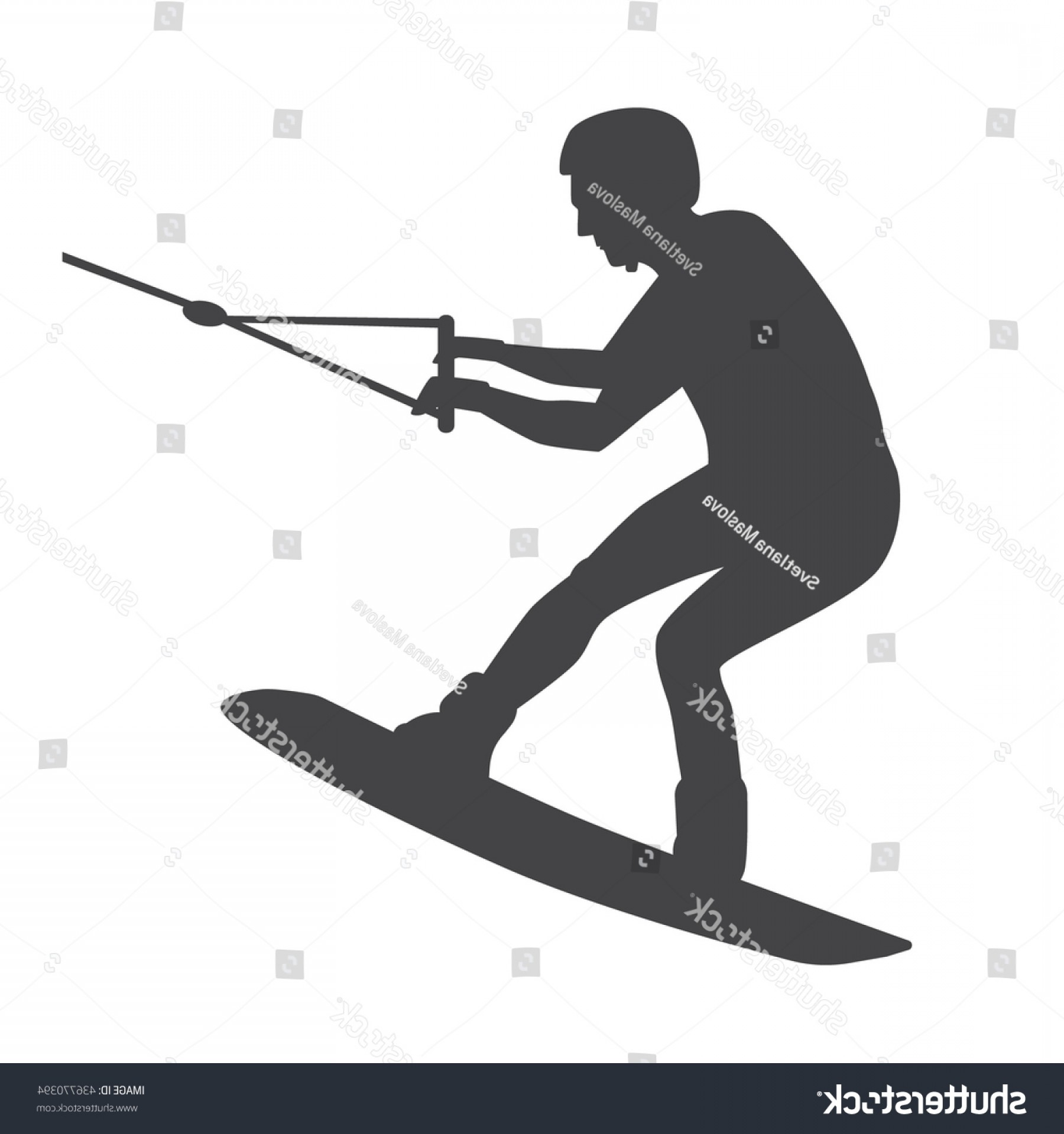 Stand Up Paddle Boarder Vector: Wakeboarder On Wakeboard Wakeboarding Sport Vector