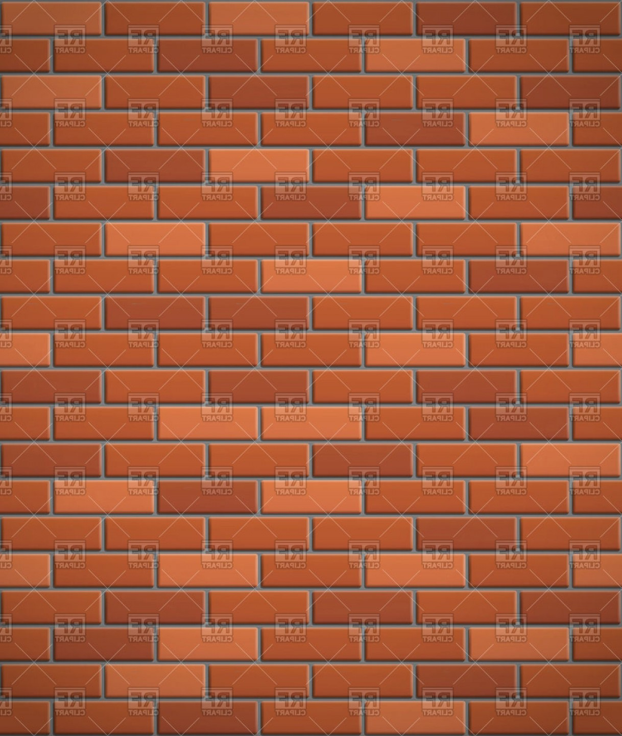 Wall Background Vector: Wall Of Red Brick Seamless Background Vector Clipart