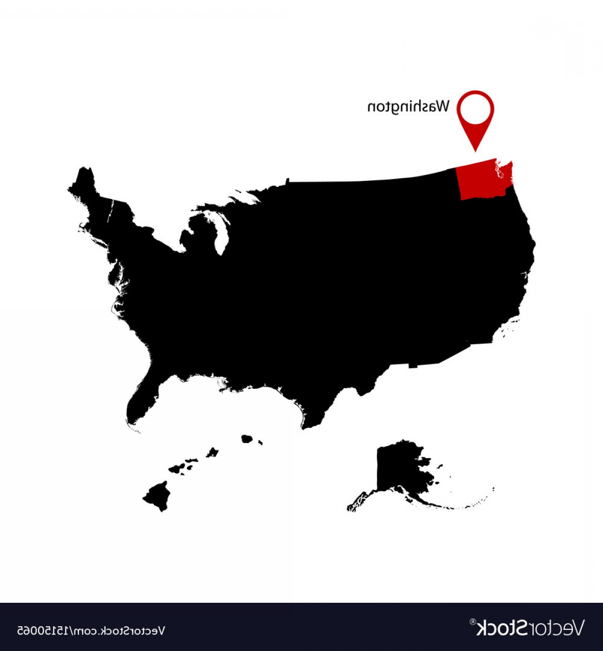 Washington State Map Vector: Washington State In The United States Map Vector