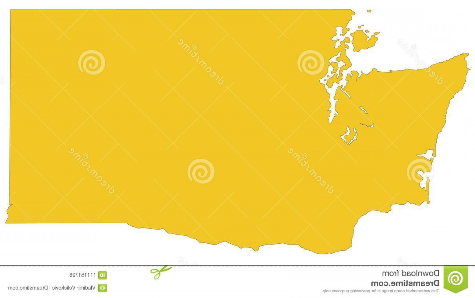 Washington State Map Vector: Washington State Map State Pacific Northwest Region United States Vector File Washington State Map State Image