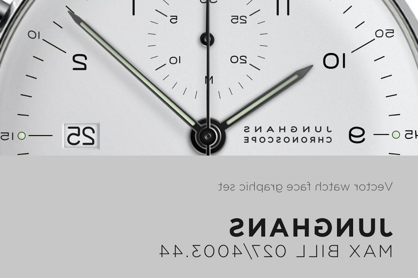 Watch Face Vector: Watch Face Vector Drawing Max Bill