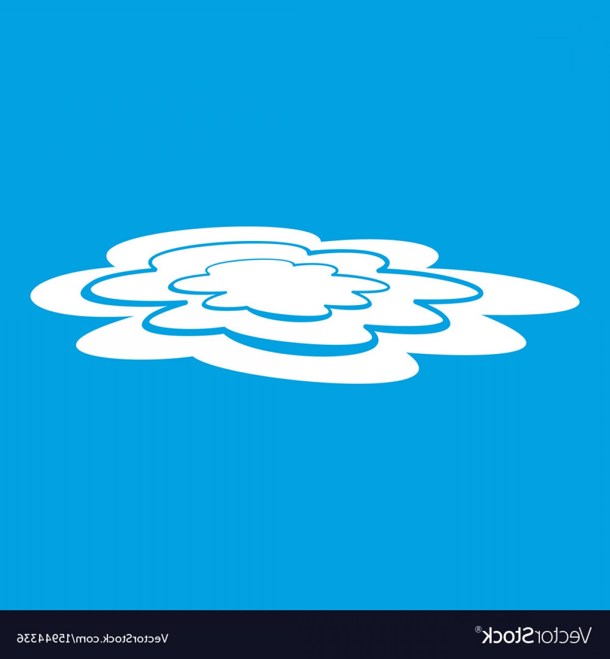 Puddle Of Water Vector: Water Puddle Icon White Vector