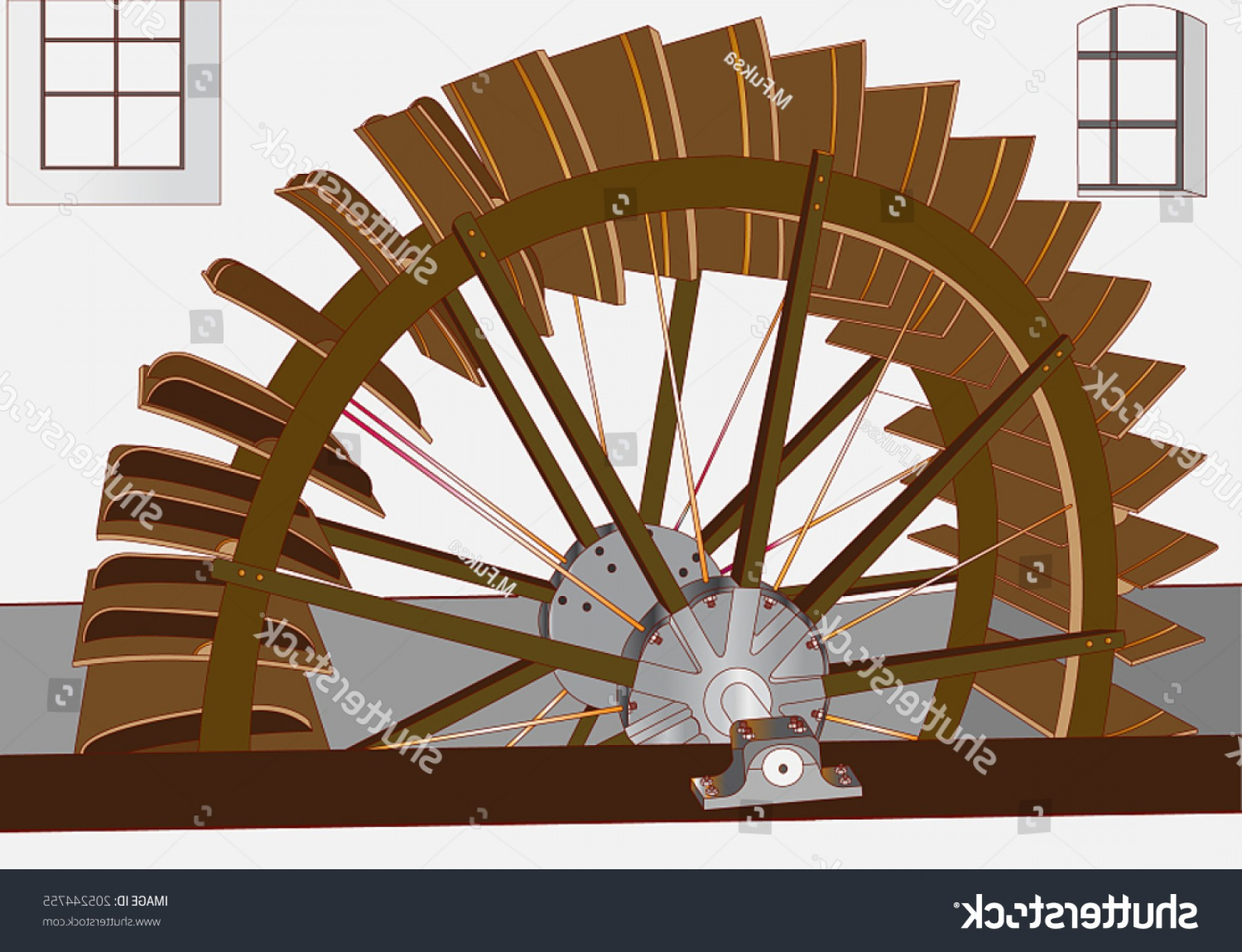 Struts For Cars Vector: Watermill History Drive Around Mill Vanes